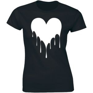 Half It Tops - Drippin Melting Heart Graphic Love Hipster T-shirt